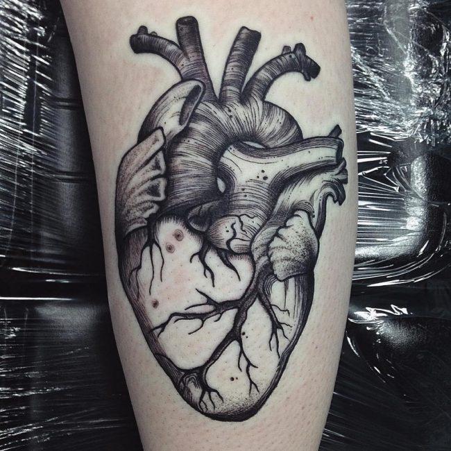 45 Beautiful Anatomical Heart Tattoo Designs-The Art of Biological ...