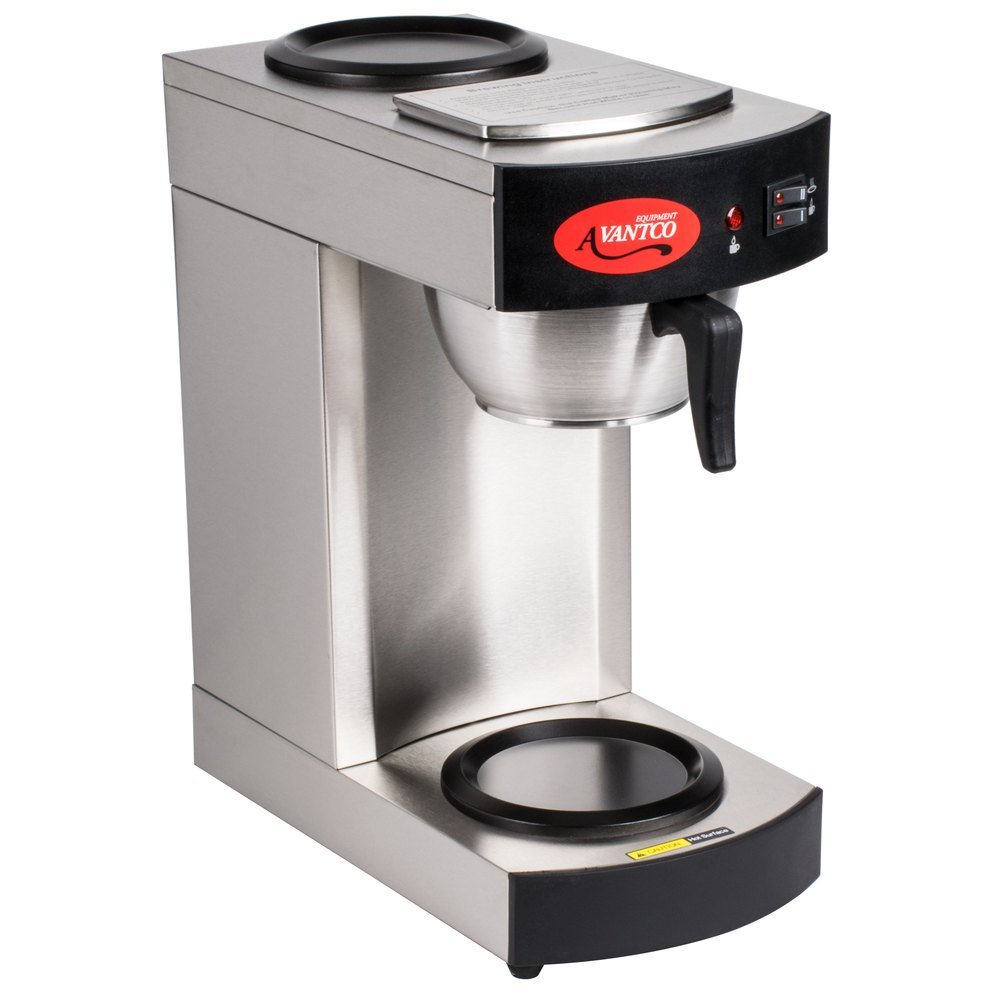 Avantco C10 12 Cup Pourover Commercial Coffee Maker with 2 Burners -...