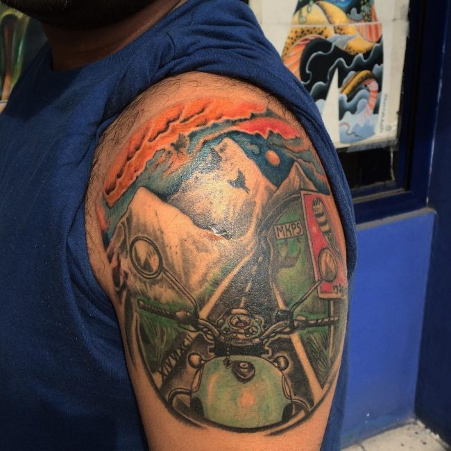 80 Traditional Biker Tattoo Designs For All the Rebels