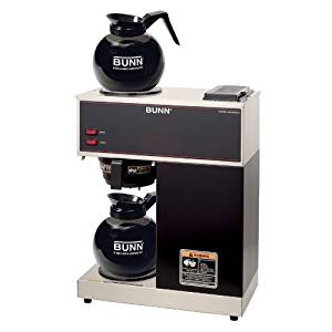 BUNN 33200.0015 VPR-2GD 12-Cup Pourover Commercial Coffee Brewer with Upper and Lower...