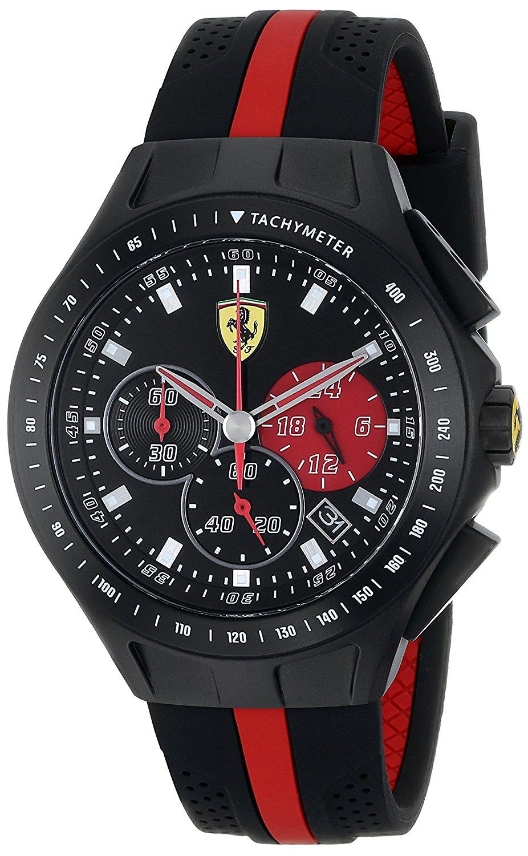 Ferrari Men's 0830023 Race Day Analog Display Quartz Black Watch