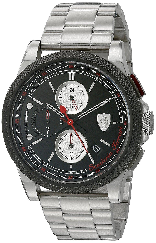 Ferrari Men's'Formula Italia S' Quartz Stainless Steel Casual Watch (Model: 0830317)