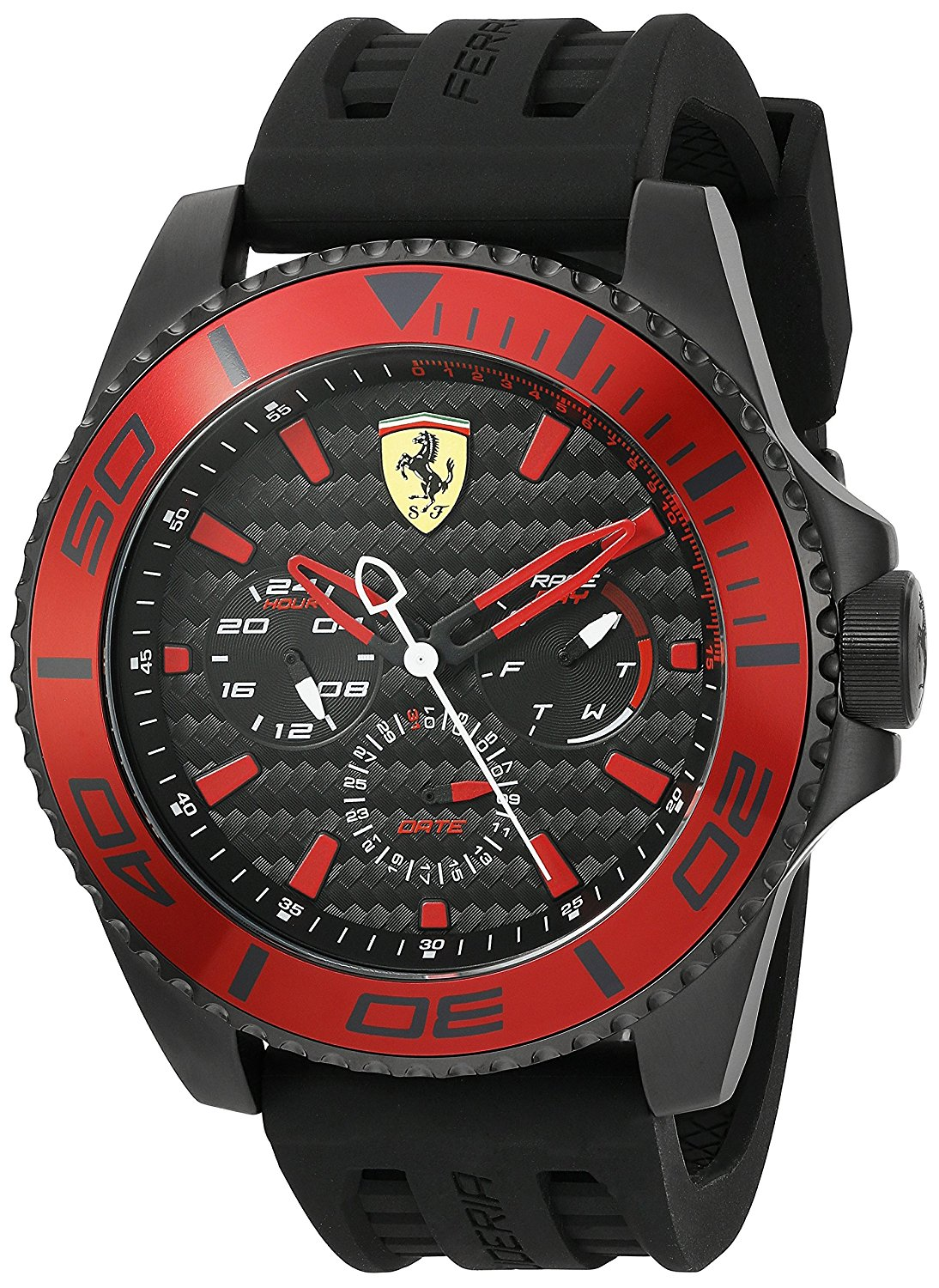 Ferrari Men's'XX Kers' Quartz Stainless Steel and Silicone Casual Watch, Color:Black...