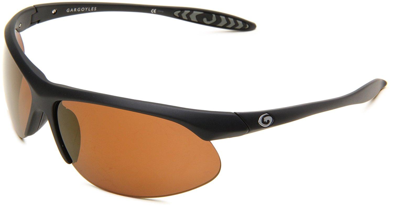 Gargoyles Men's Firewall 10200746.QTM Wrap Sunglasses,Black Frame/Copper Lens,one size