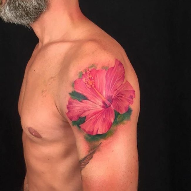 60 Awesome Hibiscus Tattoo Ideas For Men Your Powerful Totem