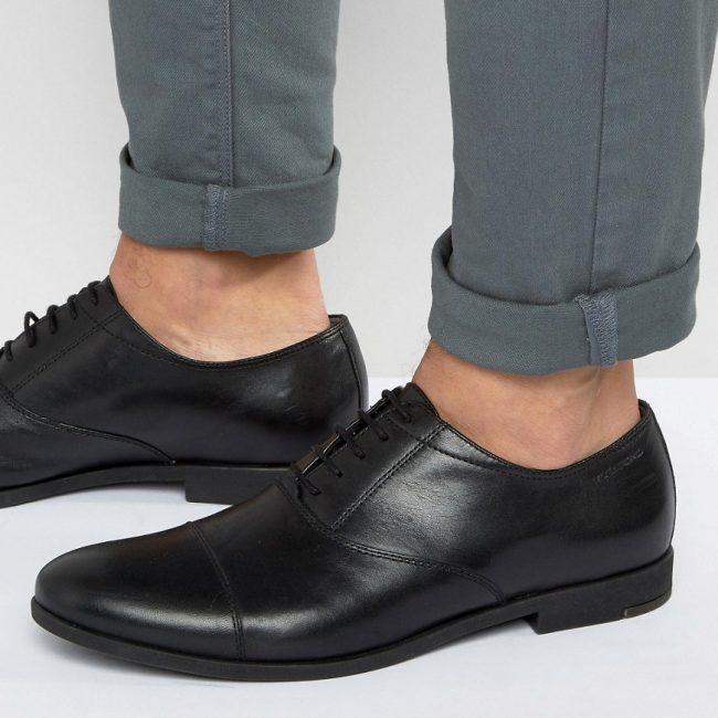 $127.0 Vagabond Linhope Oxford Toe Cap Shoes – Black