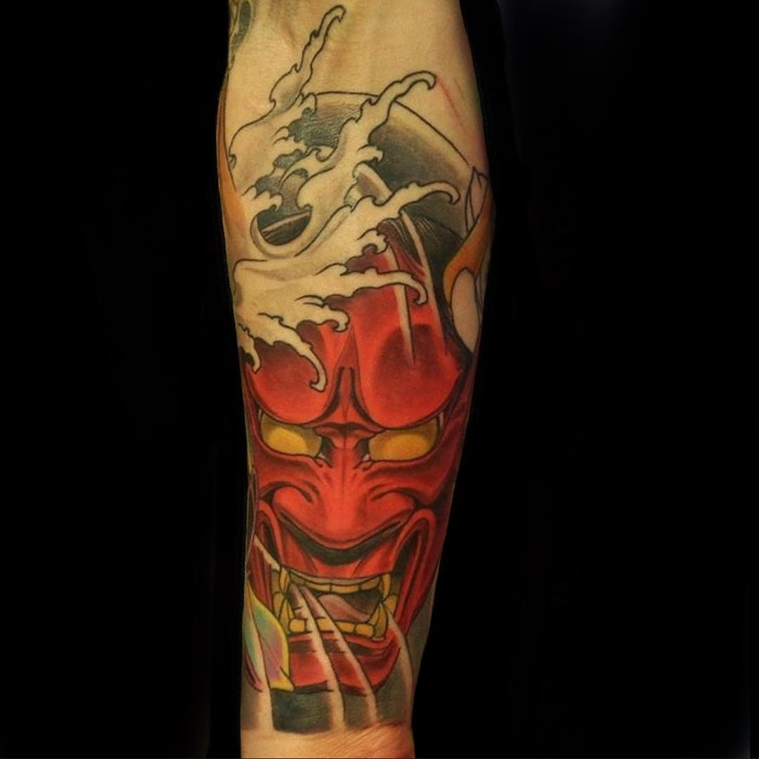 0cb0f10f0004f 40 Intriguing Japanese Mask Tattoo Designs – A Rich Cultural Heritage
