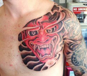 japanese-mask-tattoo-9