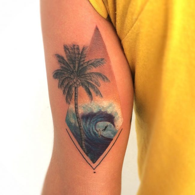 55 fine palm tree tattoo ideas   easy and super cute totems