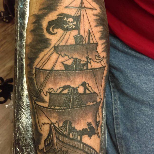 pirate-ship-tattoo-1