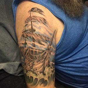pirate-ship-tattoo-10