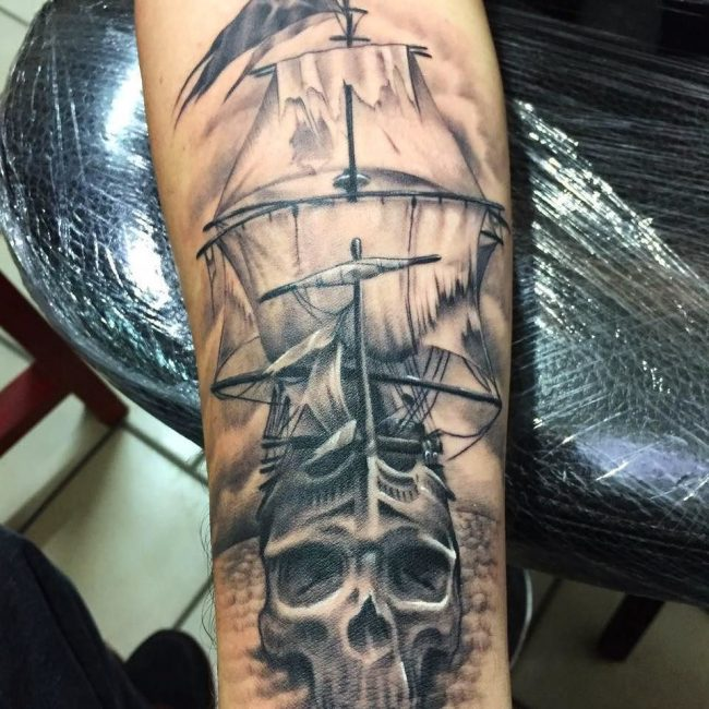 pirate-ship-tattoo-22