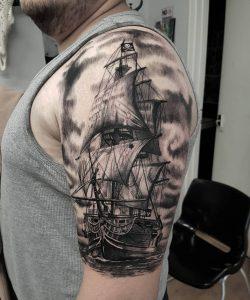 pirate-ship-tattoo-26