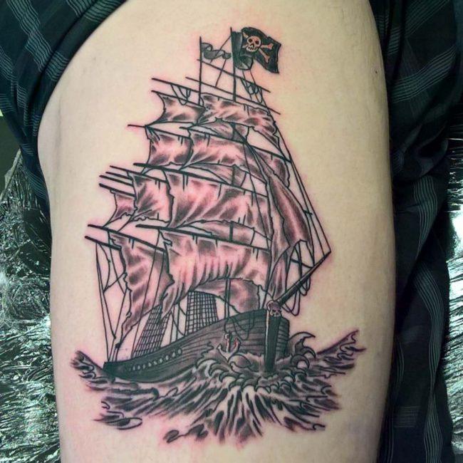 pirate-ship-tattoo-33