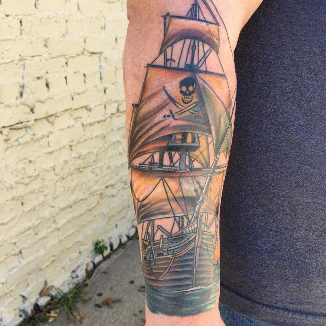 pirate-ship-tattoo-4