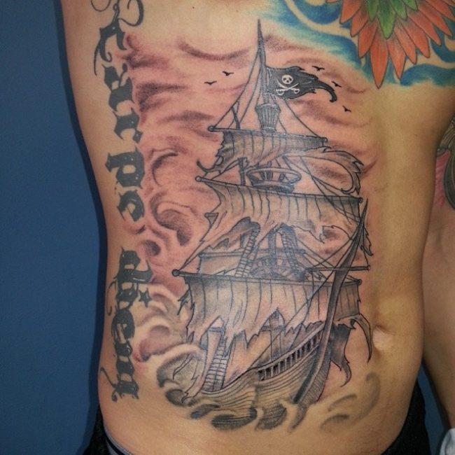 pirate-ship-tattoo-43