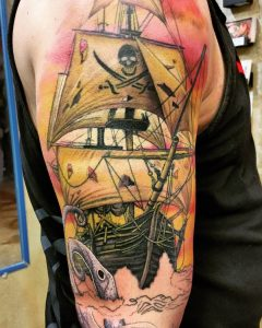 pirate-ship-tattoo-44