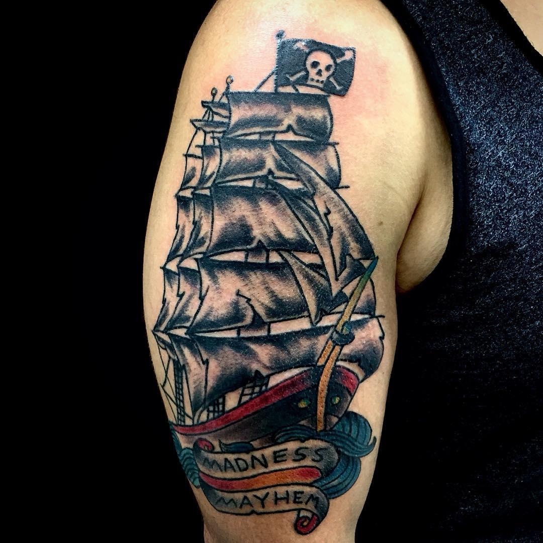 Pirate Ship Tattoo 51 Stylemann
