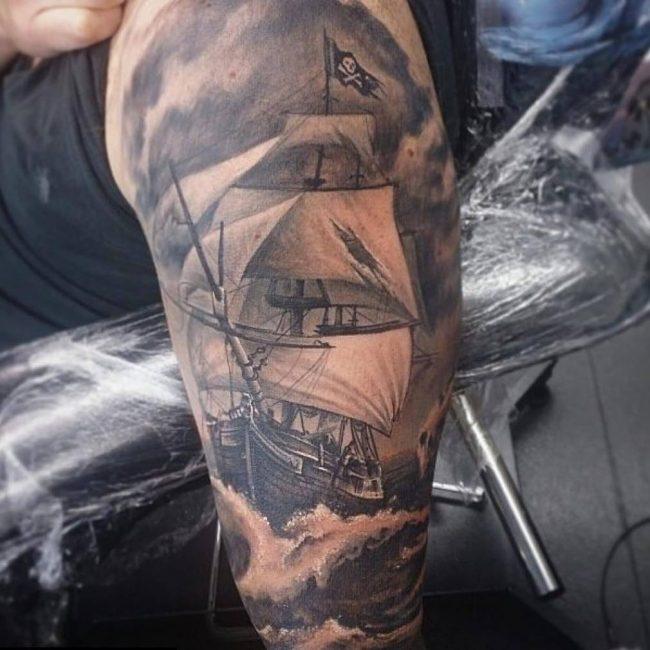 pirate-ship-tattoo-65