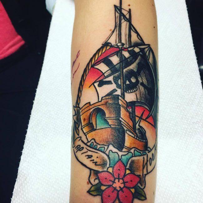 pirate-ship-tattoo-7