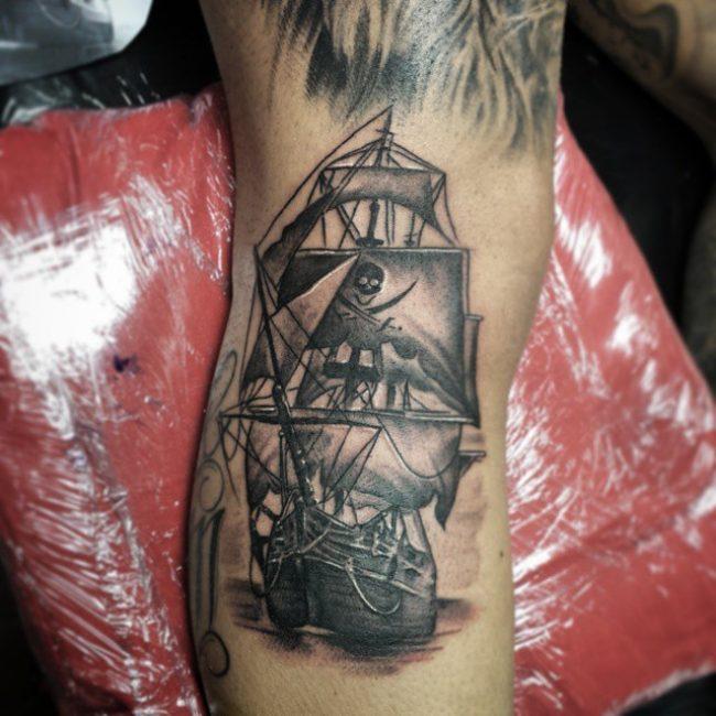 pirate-ship-tattoo-70