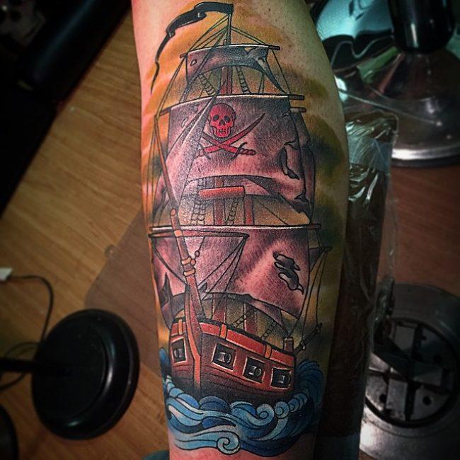 pirate-ship-tattoo-76