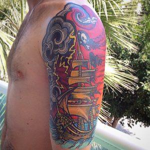 pirate-ship-tattoo-83