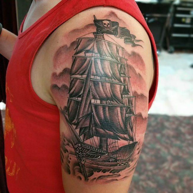 pirate-ship-tattoo-85