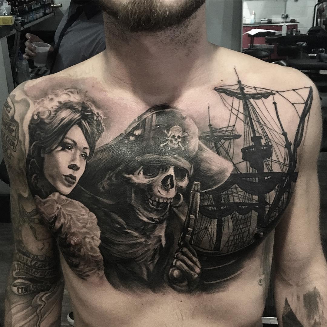 60 Masterful Pirate Tattoo Ideas - Rulers of the Seas - photo#49