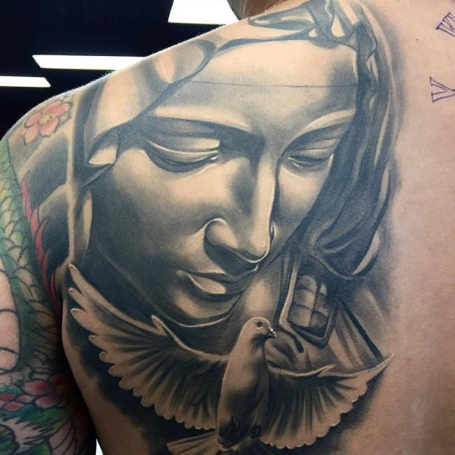 Tattoo Designs Mama Mary: 55 Lovely Virgin Mary Tattoo Ideas