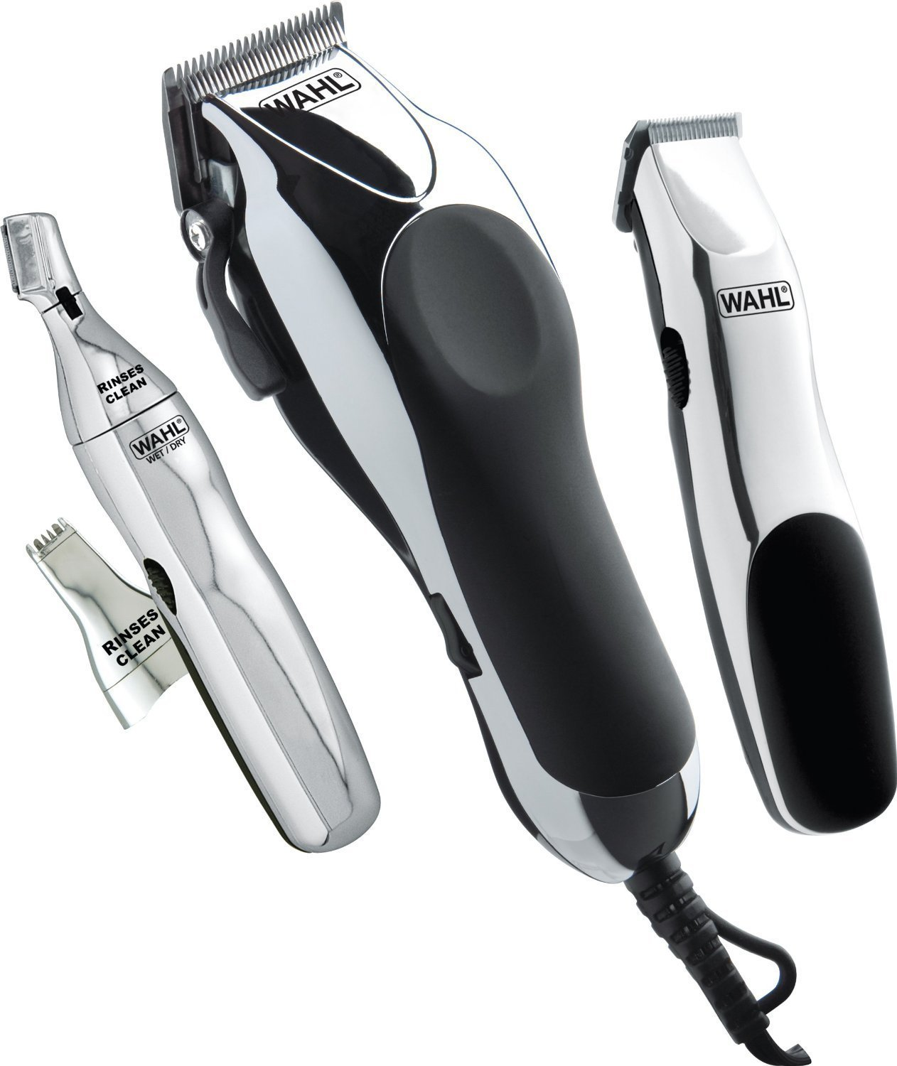 Wahl 30 Piece Haircutting Hair Clippers Combo Kit with CORDLESS Touch-Up and...