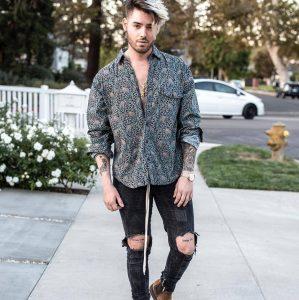 1 Black Patterned shirt
