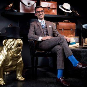 1 Brown Tweed Suit and Brogues