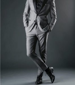 1 Grey Suit with Black Shoes