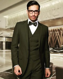 1 Jungle Green 3-Piece Suit