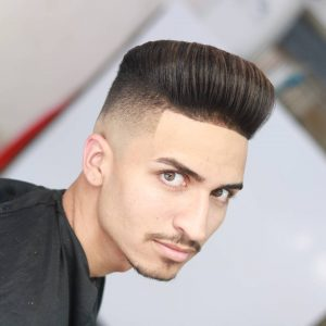 1 Modern Pompadour with Edge Up