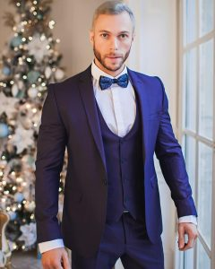 1 Royal Blue 3-Piece Designer Suit