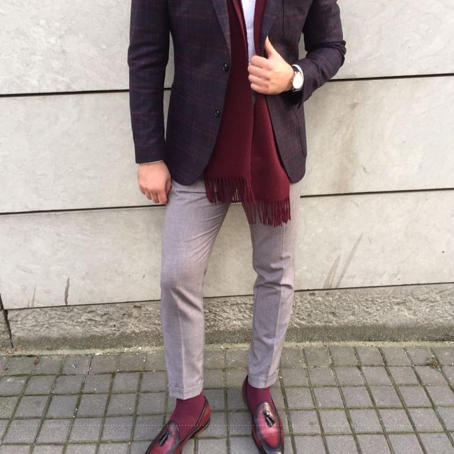 10-checkered-blazer-with-maroon-shoes