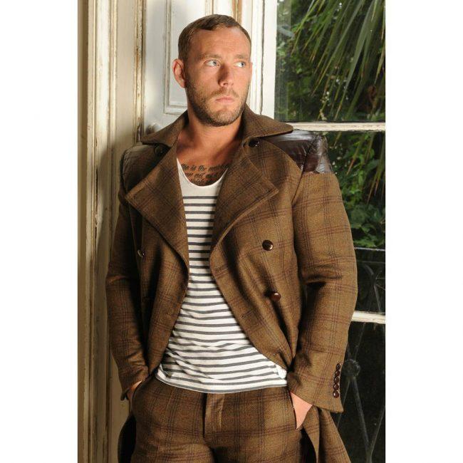 10 Designer Long Brown Coat Suit