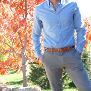 10 Khaki Trousers With Brown Leather Belt