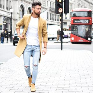 10 Light Brown Boots with a Matching Long Jacket