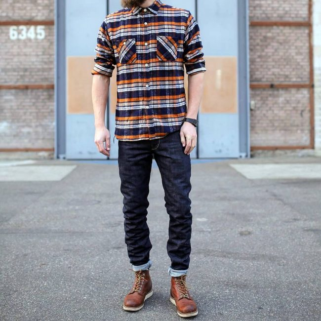 10 Shaggy Flannel Shirt With Jeans