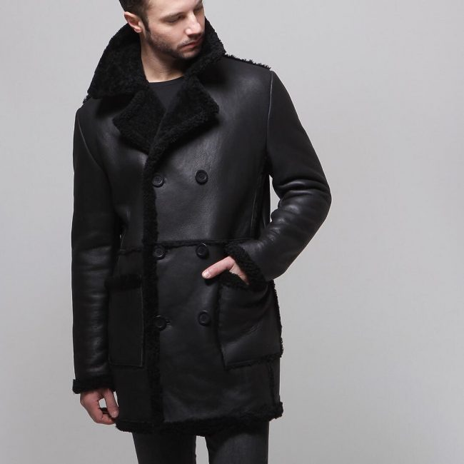 11 Black Classic Shearling Jacket