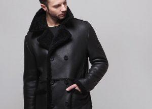 11 Black Classic Shearling Jacket