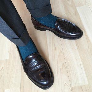 11 Black Full Strap Loafers