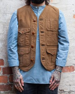 11 Chinese Collar Shirt with Vest