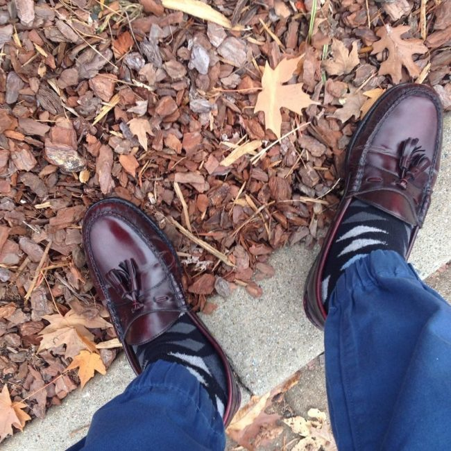 11 Dark Brown Loafers & Blue Pants