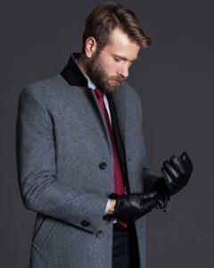 11 Long Grey Coat & Black Trousers