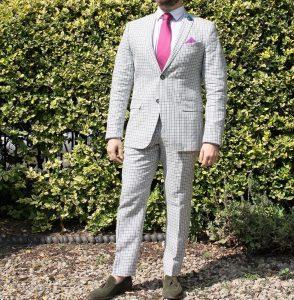 11 Pale Grey Squared Suit