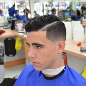 11 The Side Parted Pompadour Hawk